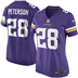 Minnesota Vikings - A. Peterson #28 Woman Jersey